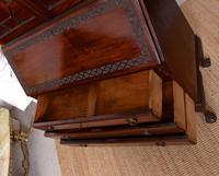 Secretaire Bureau Bookcase Astragal Glazed Mahogany Library Cabinet Edwardian (5 of 14)
