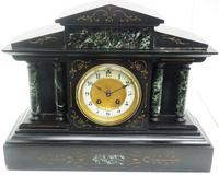 Fine Slate & Marble Mantel Clock 8 Day Striking Mantle Clock (7 of 9)