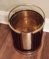 George III Mahogany & Brass Bound Plate Bucket (4 of 6)