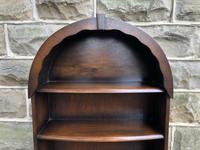 Slim Oak Domed Top Waterfall Open Bookcase (5 of 6)