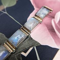 Vintage Sterling Silver Moonstone Panel Bracelet (5 of 11)