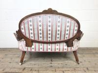 Small Victorian Walnut Frame Salon Sofa Settee (9 of 9)