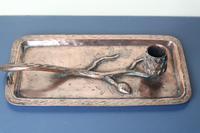 Arts & Crafts / Art Nouveau, Jugendstil Copper Pine Cone & Branch Candle holder c.1910 (4 of 28)