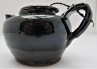 Chinese Black Glazed Stoneware Teapot & Cover, Qing Dynasty, 18th Century (5 of 8)