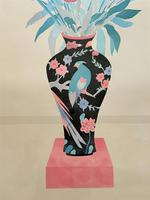Large Original Japanese Inspired Floral Still Life Watercolour Painting (6 of 12)