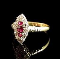 Victorian Ruby & Diamond Navette Ring (9 of 14)