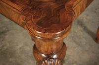 Walnut Queen Anne Style Games Table (10 of 19)