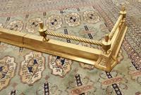 Victorian Barley Twist Brass Fender (3 of 5)