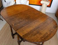 Oak Gateleg Dining Table & 4 Chairs Arts Crafts (15 of 17)