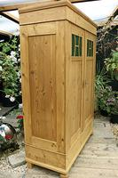 Fabulous Old Pine Knock Down 'arts & Crafts' Double Wardrobe  - We Deliver & Assemble! (7 of 16)