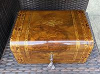 Victorian Inlaid Walnut & Tunbridge Ware Jewellery Box (12 of 14)