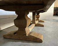 Enormous French Bleached Oak Farmhouse Dining Table (12 of 38)