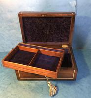 Regency Rosewood Brass Inlaid Jewellery Box (11 of 12)
