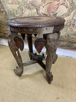 19th Century Anglo Indian Carved Elephant Occasional Table (4 of 4)