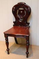 Mid Victorian Mahogany Hall Chair (6 of 8)