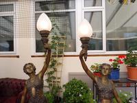 2 Bronze Art Nouveau Style Lamps (10 of 12)