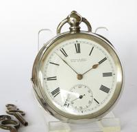 Antique silver Buren pocket watch for Kendal & Dent (2 of 5)