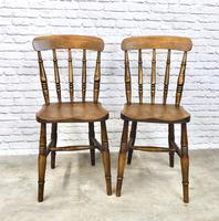 Pair of Antique Windsor Spindleback Chairs (3 of 6)