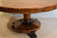 19th Century Rosewood Breakfast Table with Hairy Paw Feet (3 of 9)