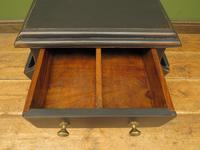 Small Black Painted Chest with Cupboard and Magazine Racks, Sofa Table (6 of 15)