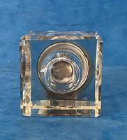 Victorian Cut Glass Inkwell with a Brass Top (4 of 10)
