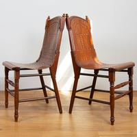 Pair Attractive Victorian Pierced Bentwood Side Chairs (13 of 14)