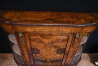 Victorian Antique Credenza Cabinet Bow End 1860 (3 of 8)