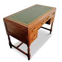 Lovely Little Vintage Desk with Green Leather Top & Drawers c.1970 (3 of 8)