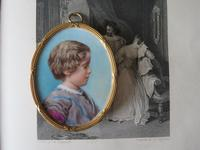 Miniature Portrait of a Young Edwardian Boy c.1910 (4 of 4)