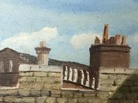 """Fine Oil Painting Architectural Entrance """"Micklegate Bar"""" York Signed F Chilton (14 of 31)"""