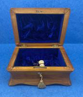 William IV Birch Penwork Jewellery Box (11 of 16)