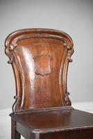 Antique Mahogany Hall Chair (9 of 11)
