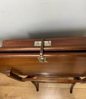 Antique Mahogany Folding Games Coaching Table (6 of 10)