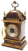 Incredible French Shell Mantel Clock French Cubed 8-day Miniature Bracket Clock (6 of 11)