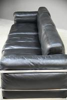 LC3 Style Black Leather & Chrome 3 Seater Sofa (21 of 22)