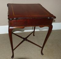 Inlaid Mahogany Occasional / Lamp Table (5 of 5)