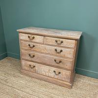 Superb Quality Limed Oak Antique Chest of Drawers (4 of 8)