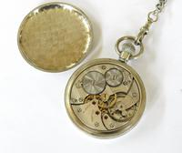 1930s Cortebert Pocket Watch & Chain (4 of 4)
