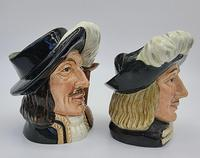 A Pair of Small Royal Doulton Musketeer Toby Jugs (5 of 9)