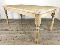 Rustic Stripped Pine Farmhouse Kitchen Table (10 of 11)
