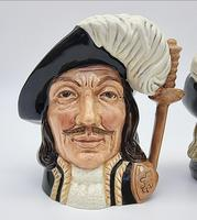 A Pair of Small Royal Doulton Musketeer Toby Jugs (3 of 9)