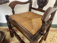 Antique Breton Side Table with Rush Seats (12 of 15)