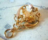 Victorian Pocket Watch Chain Horse & Pony Fob 1890s 10ct Rose Gold Filled Equestrian Fob (5 of 9)