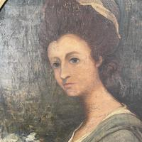 Antique Georgian Early Victorian Oil Painting Portrait of a Society Lady (6 of 10)