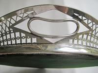 Victorian Oval Silver & Inset Walnut Gallery Tray (7 of 11)