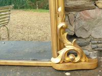 Large Antique French Arched Gilt Mirror of Unusual Size (4 of 8)