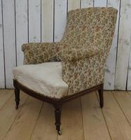 Antique Napoleon III High Back Armchair (8 of 8)