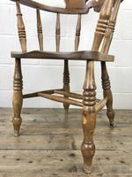 Antique Beech Spindle Back Smoker's Bow Chair (6 of 8)