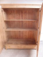 Large Victorian Antique / Old Pine Knockdown Wardrobe to wax / paint (10 of 12)