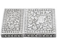 Indian Silver Card Case - Antique c.1880 (8 of 9)